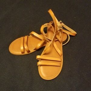 Tan, American Eagle sandals, size 8